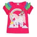 NOVATX девочек майка 2016 новое прибытие детей футболки для девочки дети летние одежды девушки топ детская одежда h4866