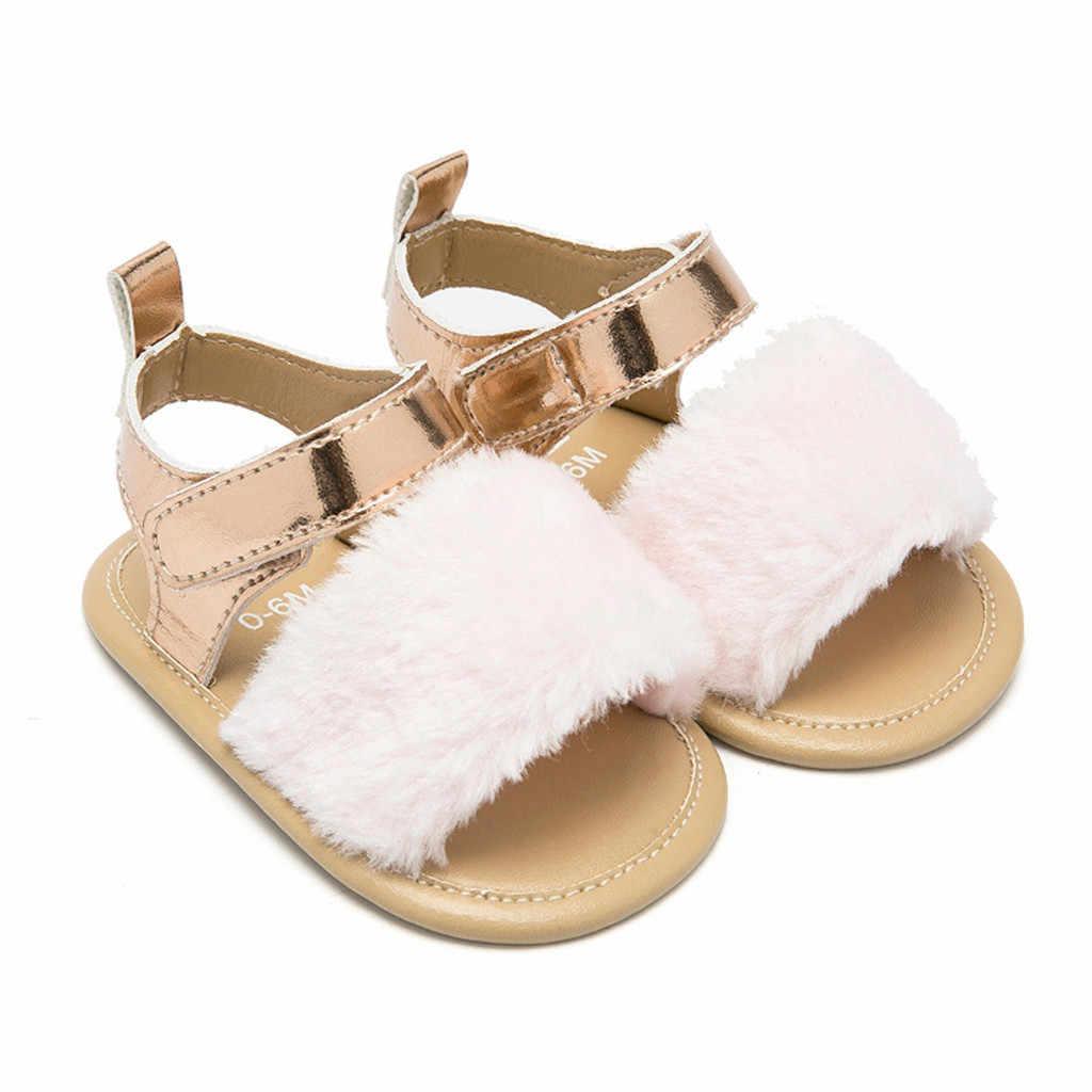 ベビーシューズカジュアルファッション女の子の靴固体革ソフトソールサンダル抗スリップシングル靴サンダル王女ベビー子供スニーカー