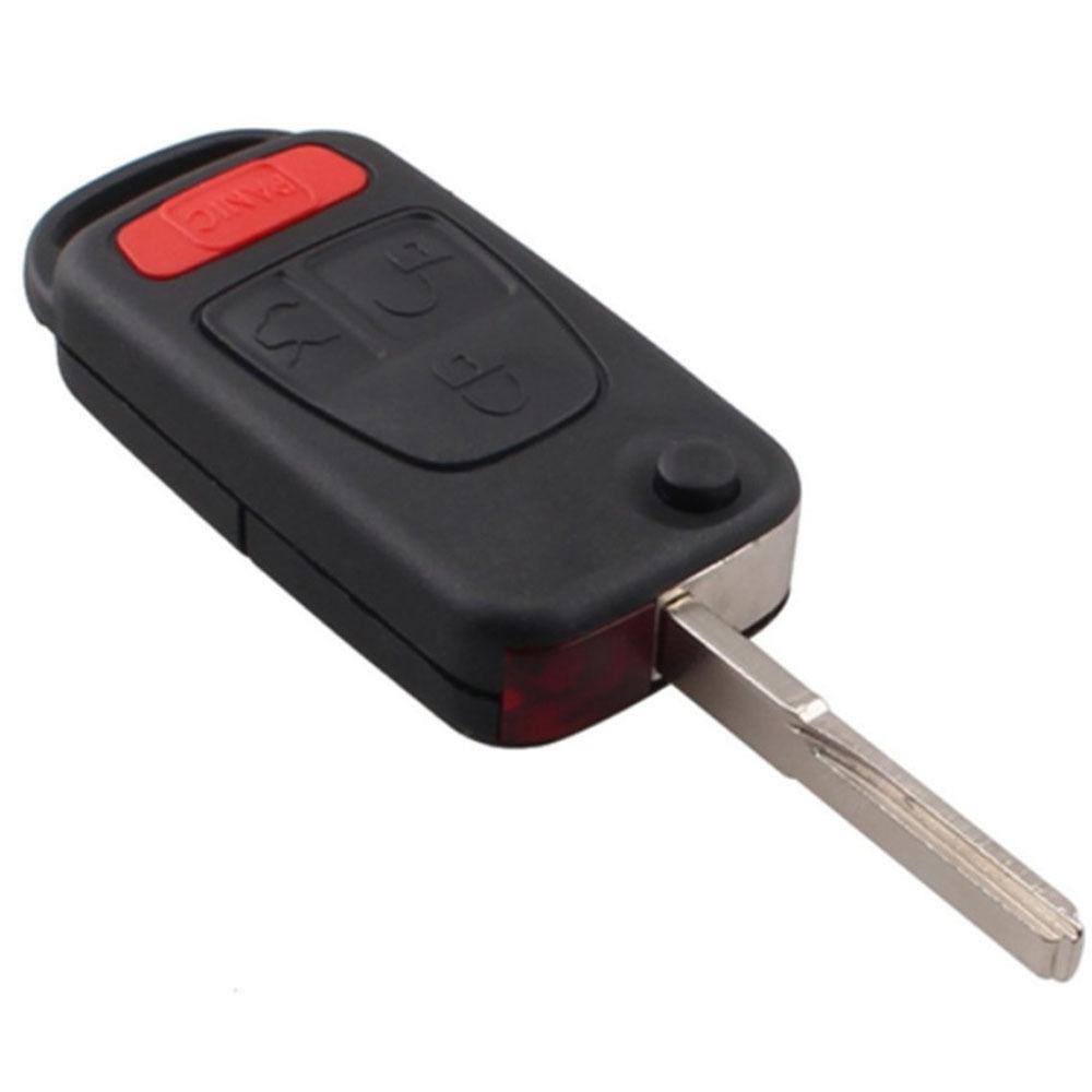 Flip Pliant Uncut Lame À Distance Clé Cas Fob Shell 4 Boutons Fit Pour Benz ML320 ML430 CL500 CL600 S500 S420 S320 ML55 AMG