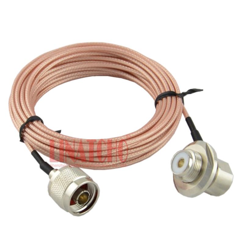 5 메터 RG316 50ohm 저손실 테플론 동축 케이블 모바일 라디오 FT-7800 FT-7900 안테나 N 남성 UHF SO239