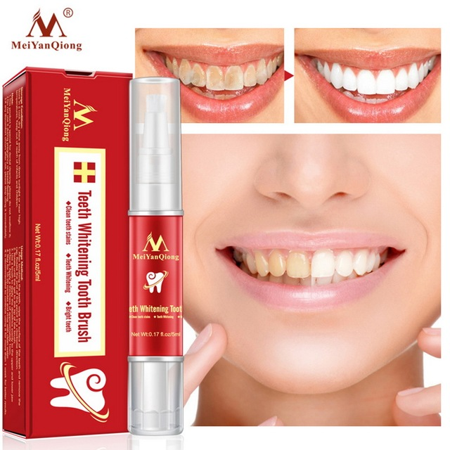 MeiYanQiong Teeth Whitening Brush Essence Oral Hygiene Cleaning Serum Removes Plate Stains Teeth Whitening Tools Paste