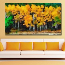 handmade Fashion Wall Art Canvas Autumn-Trees oil painting Hot Anime Painting Pictures For Living Room Home Decor