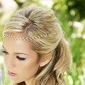 Mulheres Imitação de Pérolas Tiara Boho Chic Cadeia Cabeça de Noiva Acessórios de Cabelo Jóias Hairpin Hairband Para A Foto de Casamento Festa A00433