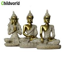 Childworld Resin Buddha Sculpture Sandstone Handicraft miniature figurines Creative Statues Home Decoration Accessories Modern