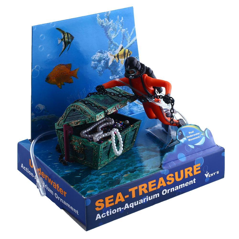 acuario ornamento decoracin treasure hunter pecho diver decoracin del tanque de mainland