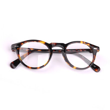 2018 Nova Vintage Óculos Frames Ov5186 Gregory Peck Rodada Acetato Óculos  de Armação Homens Óculos Mulheres Quadro Claro b0c2e7960b