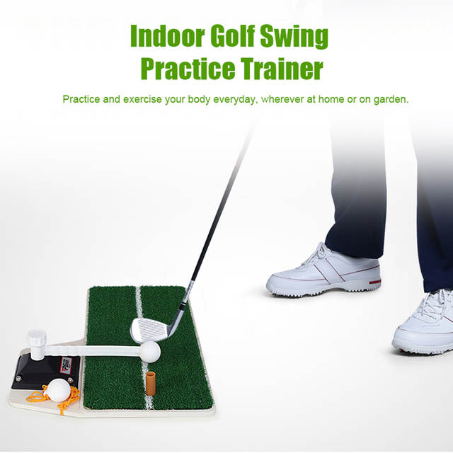 PGM Golf Swing Trainer Portable Indoor Golf Practice Device Golf Training  Hitting Practice Mat HL001