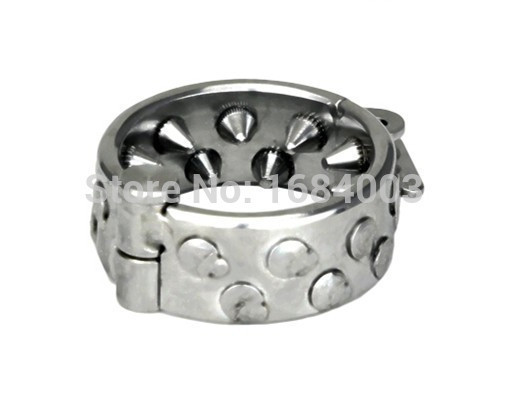 De metal metal De con pinchos anillos de pene escroto bola Camilla anillo de acero escroto anillo hombre castidad dispositivos 66a12a