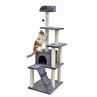 RU Domestic Delivery Kitten Cat Tree Scratching Post House Play Toys Cat Scratcher Cat Mat Climbing Playing Climbing Furnitur