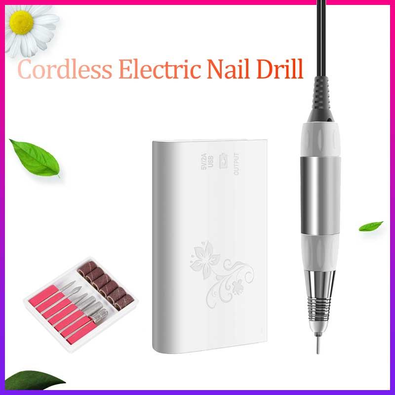 30000RPM Electric Nail Drill Machine Set 30W Cordless Nail Polisher Glazing Machine Pedicure Manicure Tool Nail