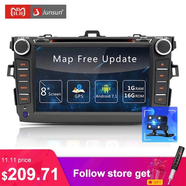 "Junsun 8 "" 2 din автомагнитолы Android DVD для Toyota Corolla 2007 ~ 2011 Радио Авто Радио GPS навигации радио рулевое колесо автомагнитола"