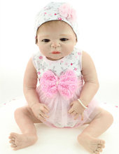 Newborn Boutique Realistic 22″ Anatomically Correct Real GIRL Baby Doll Full Silicone Vinyl Girl Reborn Baby Doll