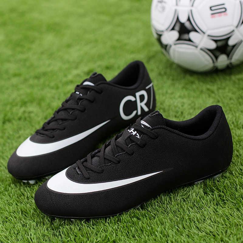 Zhenzu Sepak Bola Profesional Pria dengan Harga Murah Sepatu Sepak Bola Anak-anak Chuteira Futebol Zapatos De Futbol Panjang Paku Ukuran EUR 35- 44