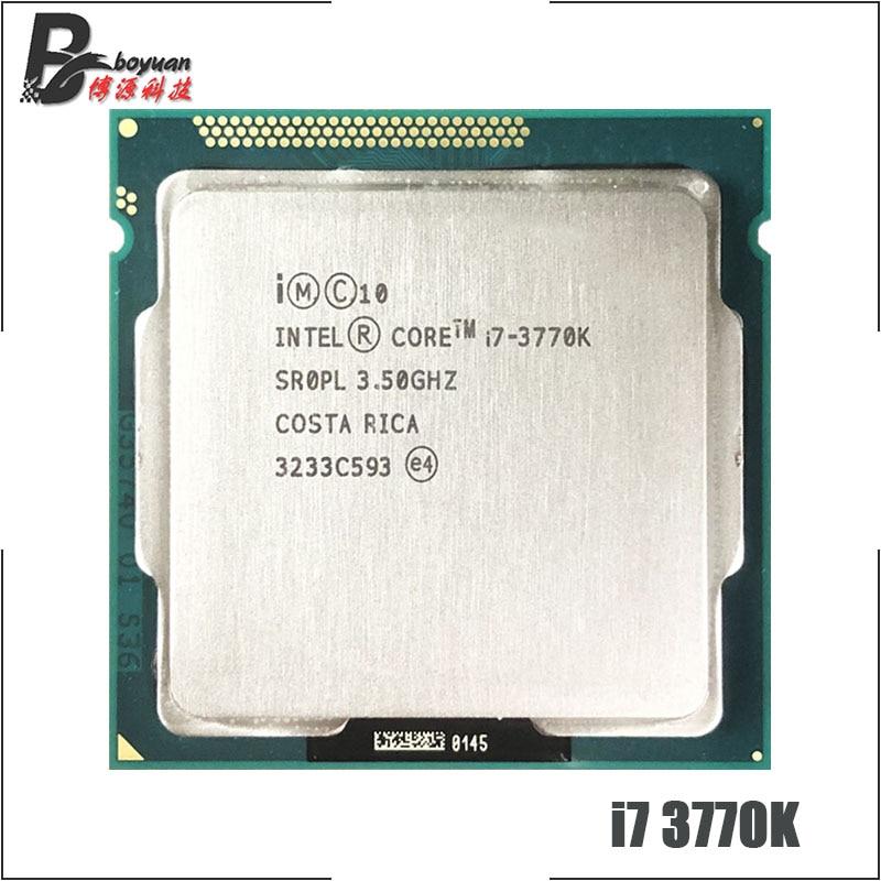 [해외] 인텔 코어 I7 3770K I7 3770 K 3.5 GHZ 쿼드 CPU 프로세서 8 M 77 W LGA - 인텔 코어 I7 3770K I7