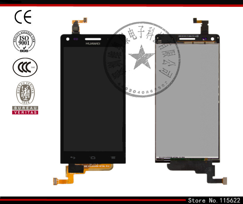 LCD for Huawei Ascend G6 U10 LCD Display Touch Screen Digitizer Glass black white