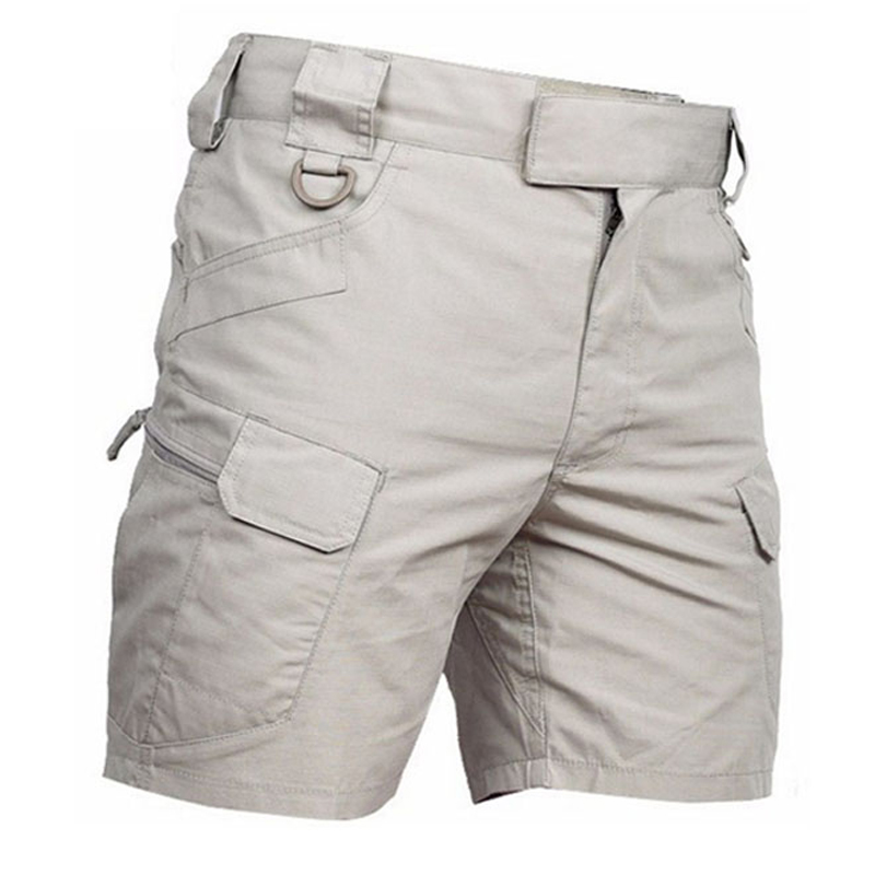 Tactical Combat Short Trousers Men Summer Outdoor Multipocket Cotton Waterproof Breathable Five Minute Trousers Shorts Sweatpant