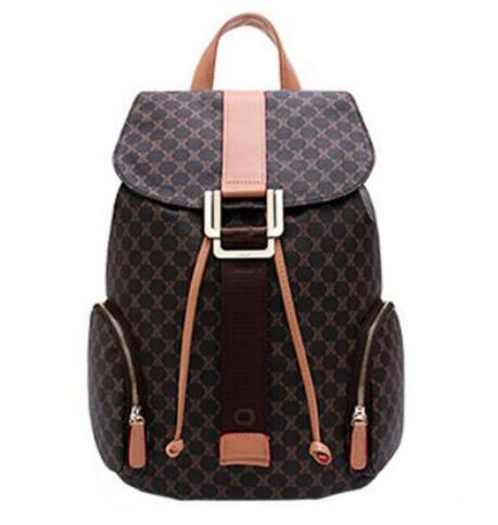 Nueva moda de alta calidad monog lienzo mochila de alta capacidad mochila mujer mochila envío gratis