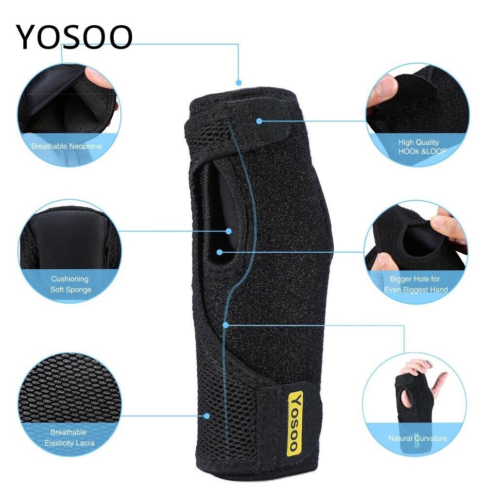 Yosoo Adjustable Medical Wrist Splint Brace Wrist Sprains Bandage Arthritis Splint Hand Brace Arm Wrist Care Support Arthritis