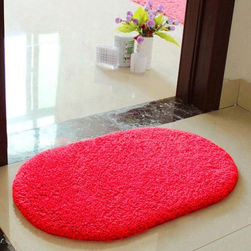 30*40cm Anti Skid Fluffy Shaggy Area Rug Home Bathroom