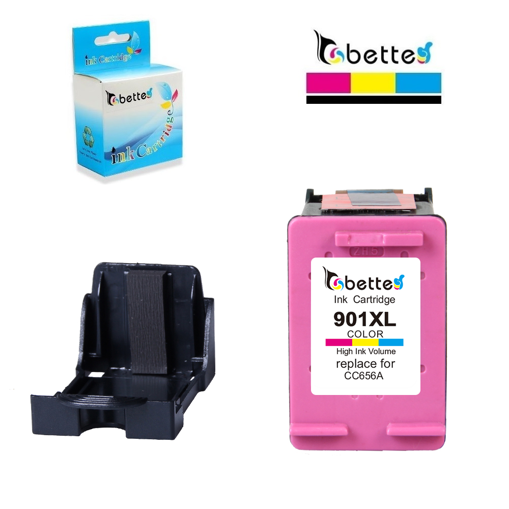 BETTE Color Ink Cartridge Replacement for <font><b>HP</b></font> <font><b>901</b></font> <font><b>XL</b></font> hp901 Officejet 4500 G510 G510g 4500 Desktop G510a G510b 4500 Wireless G510n image