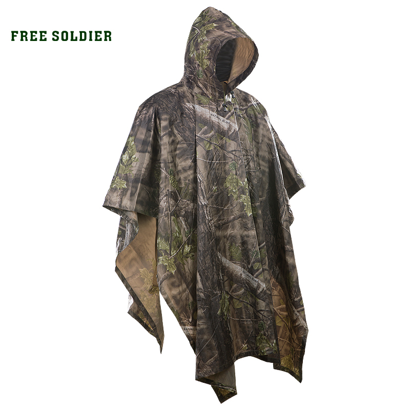 Mat Tent Poncho Rain-Cover Free-Soldier Hiking Tactical Camouflage Outdoor Camping Awning
