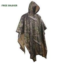 0bf00f342a1 Soldado libre deportes al aire libre 3 en 1 táctico militar biónico  impermeable cubierta de la lluvia alfombra toldo camping sen.