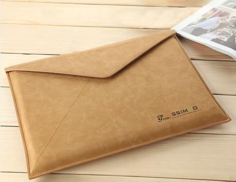 Nueva funda protectora de la manga del bolso del sobre de cuero retro - Accesorios para laptop - foto 4
