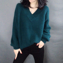 loose and lazy, short style, new style women's wear, autumn and winter leisure net, red and Korean knitted sweater(China)