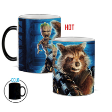 DROP SHIPPING!groot and rocket Mug magic color changing coffee  Ceramic Coffee And Drink Cup best gift for your friends