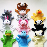 10 animals hand puppets story telling finger puppets plush toys dolls Christmas gifts for children