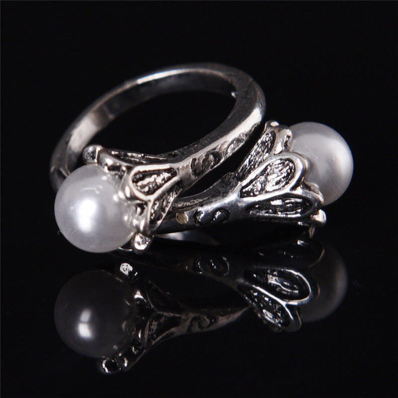 Jogo dos tronos daenerys targaryen pérola branco anel do vintage um tamanho ajustável halloween cosplay adereços jóias presente