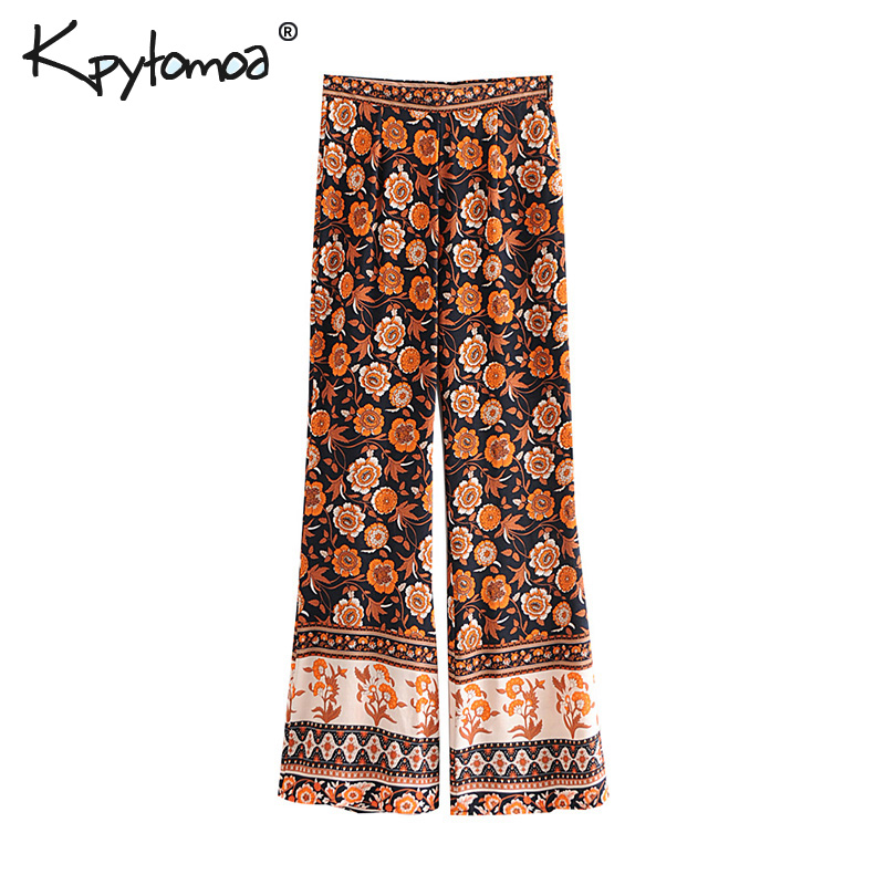 Boho Chic Summer Vintage Floral Print Flare Pants Women 2019 Fashion Side Zipper Patchwork Beach Trousers Pantalones Mujer-in Pants & Capris from Women's Clothing on AliExpress - 11.11_Double 11_Singles' Day 1