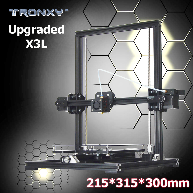 big print size 315*300*215mm Tronxy X3L Upgraded Aluminium profile High Precision Reprap 3D printer DIY kit Long distance series