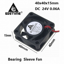 5Pcs/Lot Gdstime 4015 4CM 40mm 24V 2Pin 40x40x15mm Mini Brushless DC Cooling Fans
