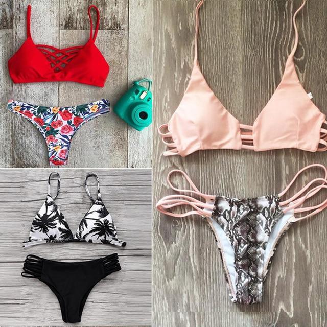 Сексуальная бинты бразильский bikinis 2017 купальники купальник бикини женщин подтолкнуть вверх бикини набор дамы biquini купальный костюм xl