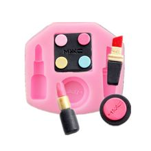 Lipstick Eye Shadow Powder Biscuit Roll Sugar Biscuit Decoration Mold Make-up Tools Turn Sugar Cake Silicone Fondant Mold A1175(China)