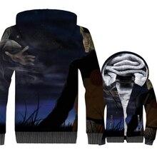 harajuku Japanese Anime tracksuits Uzumaki Naruto jackets for men thicken wool liner hooded 2019 winer sportswear coats 3D Print