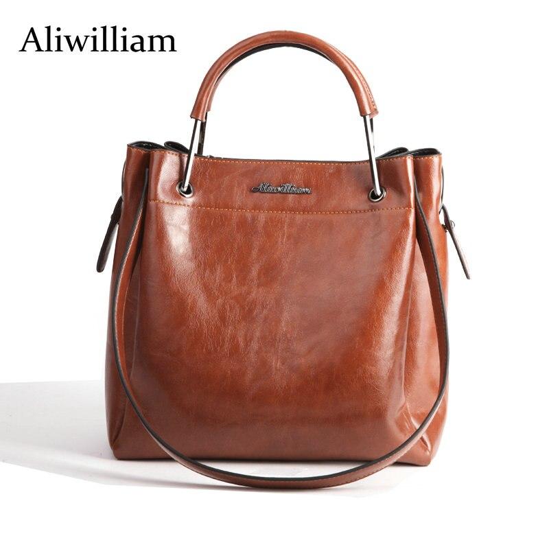Aliwilliam 2017 Nuevo diseñador bolso de las mujeres de Calidad de Cuero Bolso C