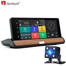 Junsun 3G 7 cal Car DVR Nawigacji GPS Android 5.0 Bluetooth wifi Samochodów z Tylną kamerą Nawigatorzy sat nav Darmowe mapy