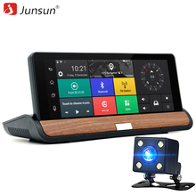 Junsun 3G 7 inch Car DVR GPS Navigation Android 5.0 Bluetooth wifi Automobile with Rear view camera Navigators sat nav Free maps