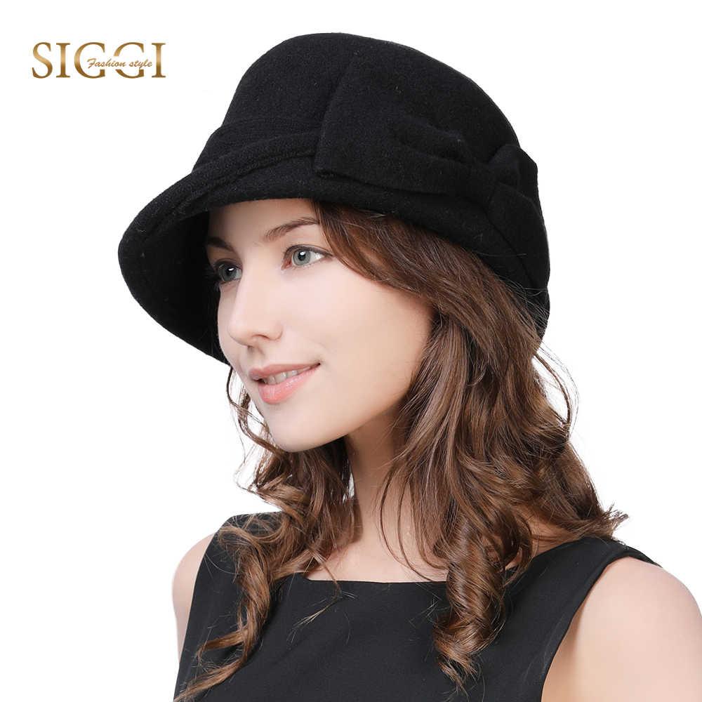 88f17245e5e79 Fancet Women Beret Cloche Felt Hat female Bonia Winter Wool Bucket Bowler  Hats Autumn 1920s Vintage