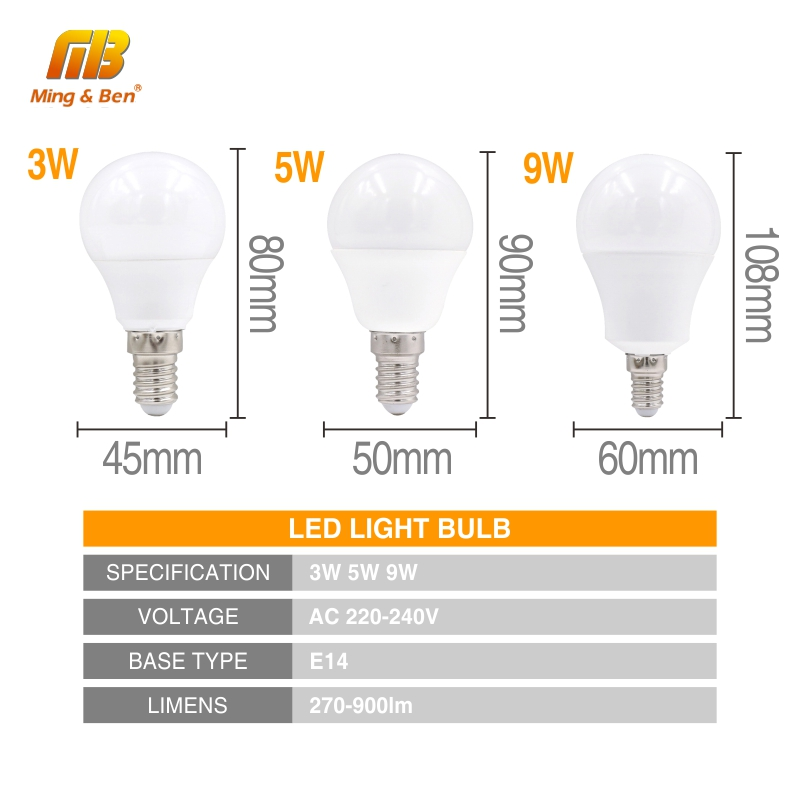 4pcs LED Bulb Lamp E14 E27 3W 5W 7W 9W 12W 15W 18W 220V 230V LED Lampada Ampoule Bombilla High Brightness LED Light Bulb SMD2835