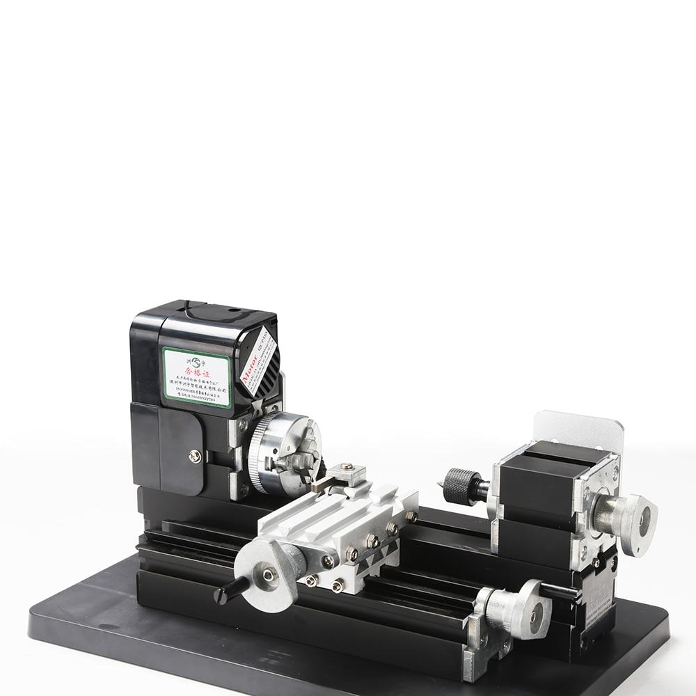 6 az 1-ben 24W-os teljes fémből készült mini eszterga, marás, - Szerszámgépek és tartozékok - Fénykép 6