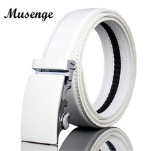 White Leather Designer Belts Man High Quality