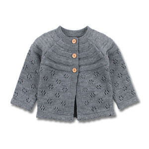 Image 2 - Baby Girls Cardigan Toddler Sweater Infant Coat Hollow Out Fashion Cute Infant Girls Knitted Jacket RT197
