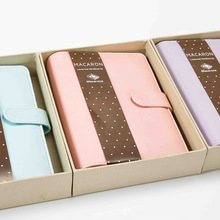 Macaron leather spiral notebook Original office personal dia