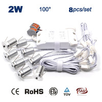 8PCS Set Driver Cables 2W Christmas Decoration Led Ceiling Light 15mm Cut Led Ceiling Spot Lamp