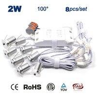 8PCS Set Driver Cables 2W Christmas Decoration Led Ceiling Light 15mm Cut Led Ceiling Spot Lamp