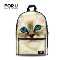 Preppy Style Teenager Girls School Backpacks 3D Cute Animal Cat Printing Backpack Casual Women Travel Backpacks Mochila Rucksack