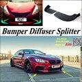 Car Splitter Diffuser Bumper Canard Lip For BMW 6 M6 E24 E63 E64 Tuning Body Kit / Front Deflector Car Fin Chin Reduce Body
